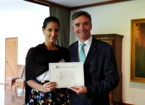 Olga Correia e o Embaixador do Reino Unido no Brasil, Sir Alexander Ellis