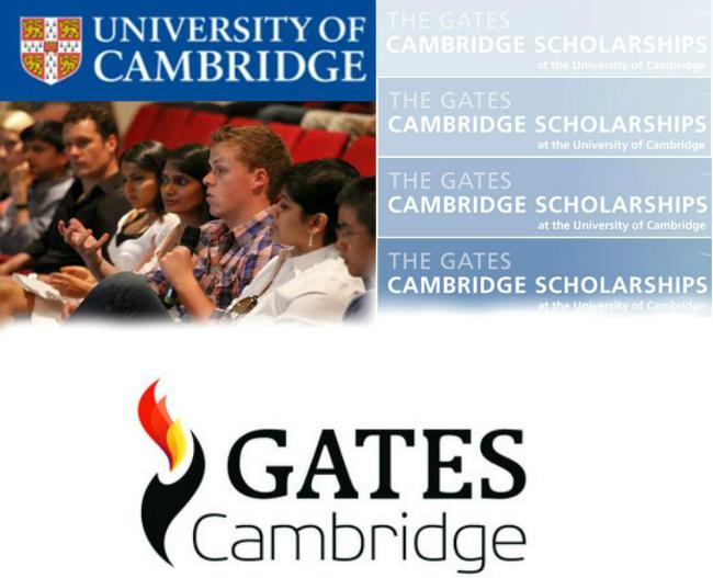 Gates Cambridge Scholarship   Divulgação