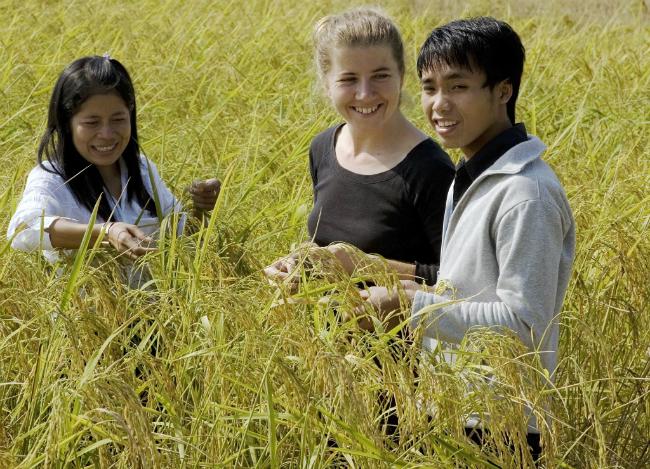 Voluntariado  em Lao   Foto: Bart Verweij/AusAID, via Wikimedia Commons