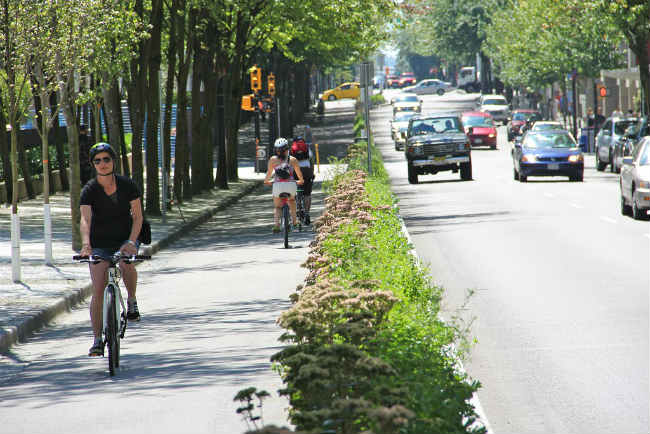 Hornby Bike Lane, Vancouver | Foto: Paul Krueger via Flickr
