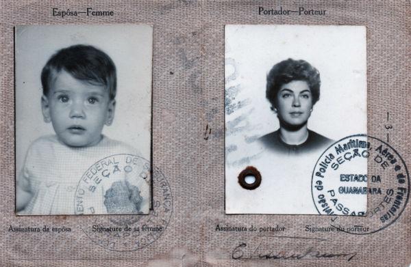 Foto: arquivo Andrea Tissenbaum | Meu primeiro passaporte