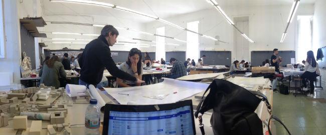 Sala de aula, arquitetura | Foto: Gabriela Lázaro Vasconcellos