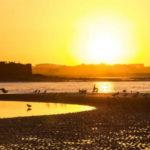 Pôr do sol em Howth's beach, na Irlanda   Foto: Juan Salmoral, via Flickr