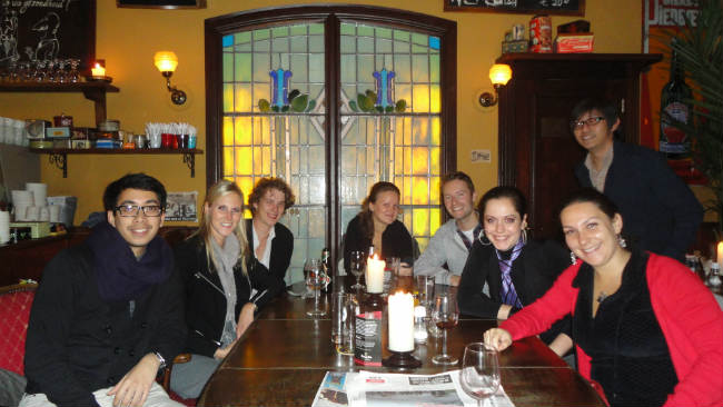 Clara com colegas do Imagineering, em Breda | Foto: Clara Bianchini