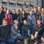 Clara Bianchini e Itamar Olimpio com colegas do mestrado Imagineering, na Breda University  Foto: Itamar Olimpio