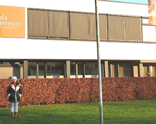 Bruna Mello Rangel na Universidade de Breda   Foto: Bruna Mello Rangel