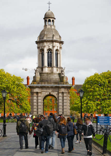 Trinity College, Irlanda   Foto: Ron Cogswell, via Flickr