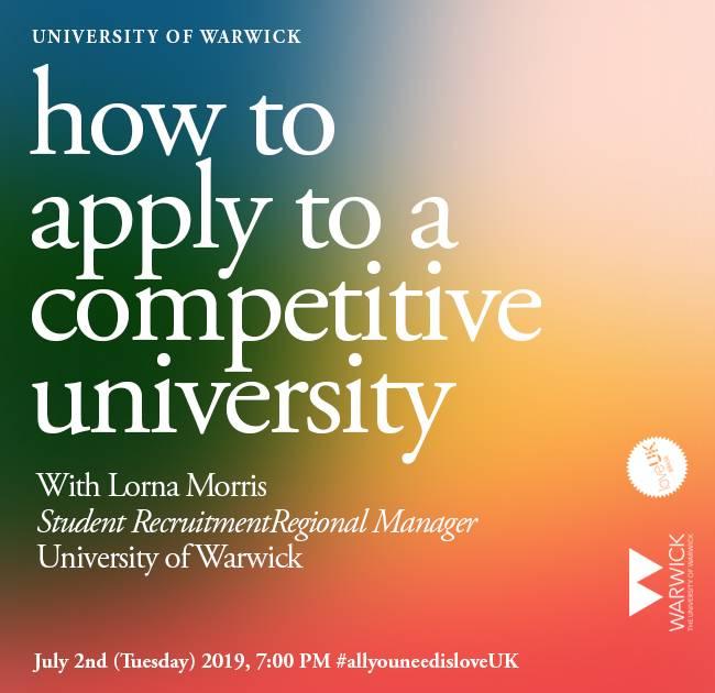 Workshop loveUK - Como candidatar-se a universidades competitivas no Reino Unido | Crédito: Divulgação