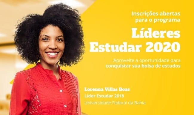 Líderes Estudar 2020 | Bolsista Lorenna Villas Boas | Foto: Fundação Estudar
