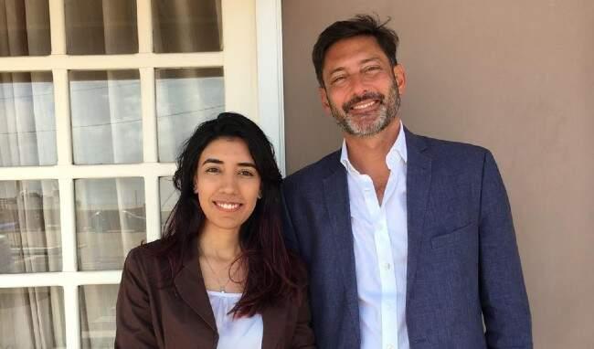 Vijay Rangarajan e Natália Mendonça, alumni e embaixadora regional do Chevening no Amapá | Divulgação